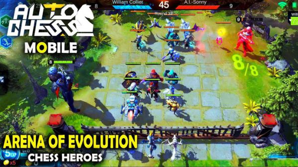 """Arena of Evolution: Chess Heroes"" game ăn theo Auto Chess gây nghiện 1"
